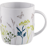 Hedgerow Porcelain Mug - White