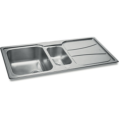 Image for Carron Phoenix Zeta 150 Kitchen Sink- 1.5 Bowl from StoreName