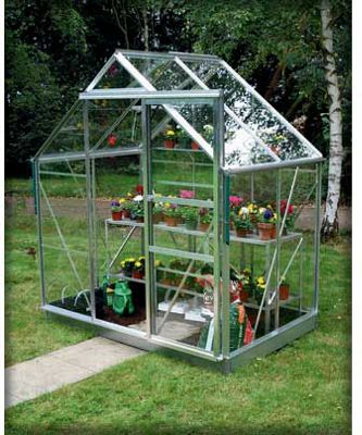 Baroness Greenhouse - Safety Glass - Green Frame - 6x4ft