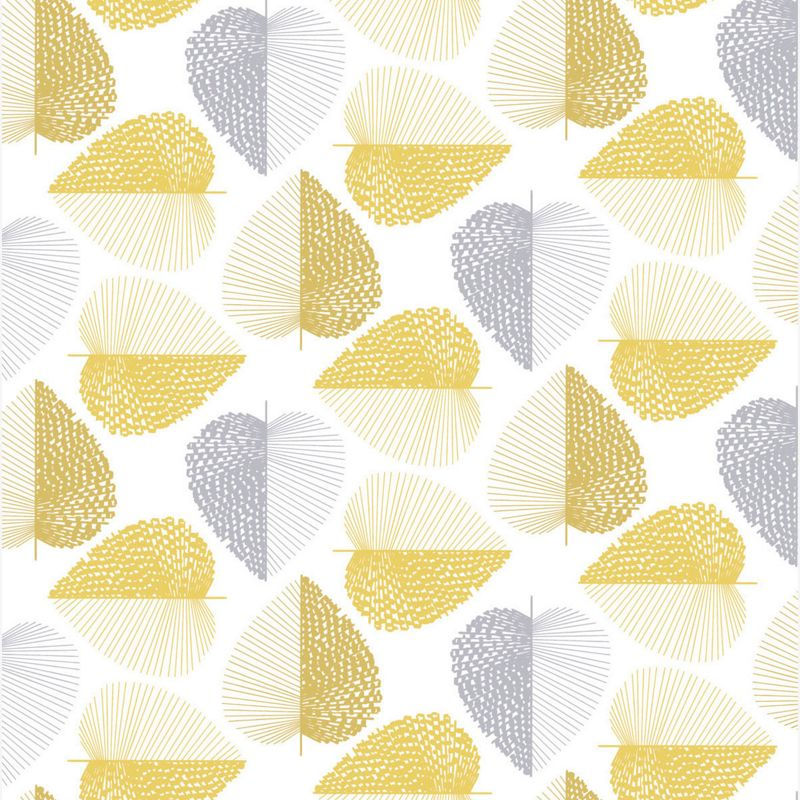 Mustard Design Wallpaper : Printed wallpaper find it for less