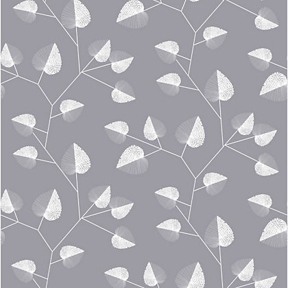 Premier claire wallpaper grey for Wallpaper homebase grey