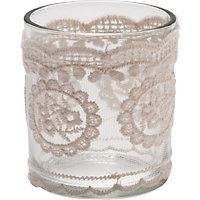 Tealight Holder- Lace Covered
