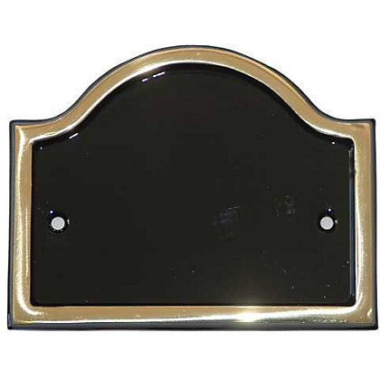 Image for Blank Door Plate - Brass from StoreName