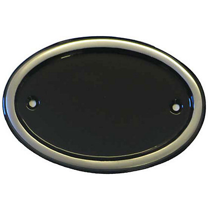 Image for Oval Door Plate - Aluminium from StoreName