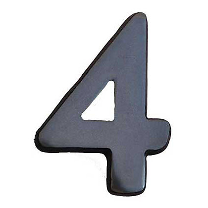 Image for Self-Adhesive Door Number - Aluminium - 4 from StoreName