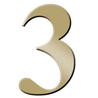 Self-Adhesive Door Number - Brass - 3