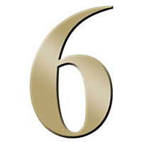 Self-Adhesive Door Number - Brass - 6