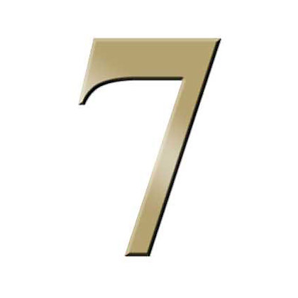 Image for Self-Adhesive Door Number - Brass - 7 from StoreName