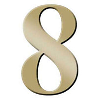 Self-Adhesive Door Number - Brass - 8