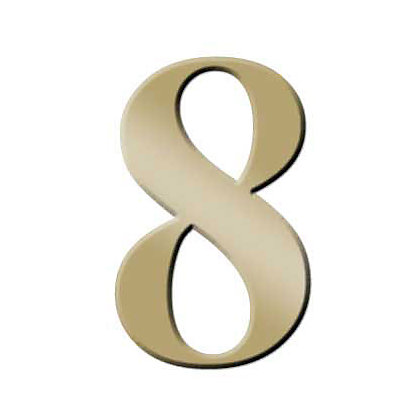 Image for Self-Adhesive Door Number - Brass - 8 from StoreName