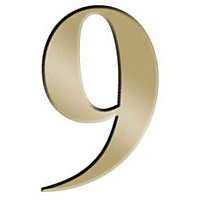 Self-Adhesive Door Number - Brass - 9
