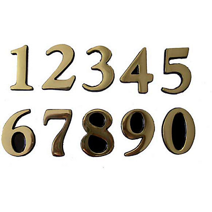 Image for Self-Adhesive Door Number - Brass - 0 from StoreName