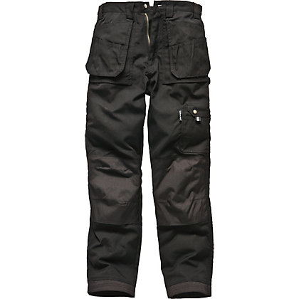 Image for Dickies Eisenhower Multi-pocket Trousers-Black 34R from StoreName