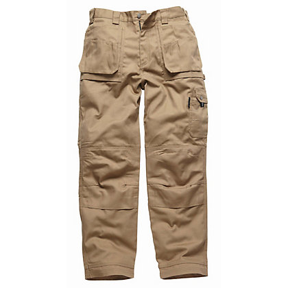 Image for Dickies Eisenhower Multi-pocket Trousers-Khaki 32R from StoreName