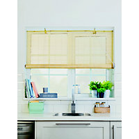 Homebase Natural Bamboo Roll Up Blind 60cm