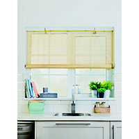 Homebase Natural Bamboo Roll Up Blind 90cm