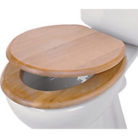 Solid Wood Limed Oak Toilet Seat