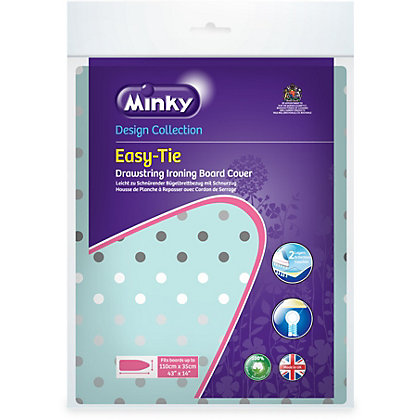 Image for Minky Easy Tie Ironing Board Cover - 110 x 35cm from StoreName