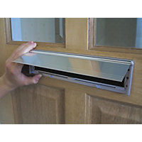 Stormguard Letter Box Cover With Flap - Chrome