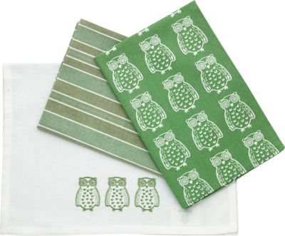 Image for Mixed Set of 3 Tea Towels - Green from StoreName