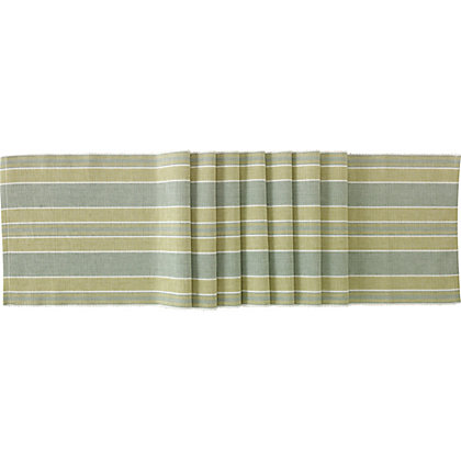 Image for Single Green Ribbed Table Runner from StoreName
