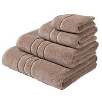 Hand Towel Zero Twist Cotton - Stone