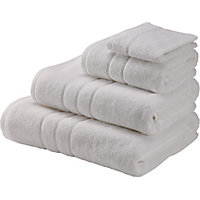 Hand Towel Zero Twist Cotton - White