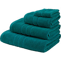 Hand Towel Zero Twist Cotton - Aqua