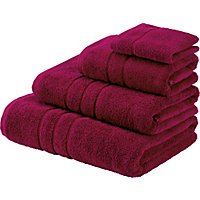 Hand Towel Zero Twist Cotton - Red