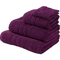 Hand Towel Zero Twist Cotton - Plum