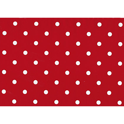Image for Fablon Sticky Back Plastic - Polka Dot Red from StoreName