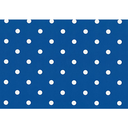 Image for Fablon Sticky Back Plastic - Polka Dot Blue from StoreName