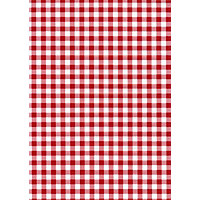 Fablon Sticky Back Plastic - Red Gingham