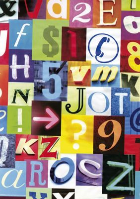 Homebase - Fablon Sticky Back Plastic - Letters and Numbers
