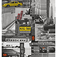 Fablon Sticky Back Plastic - City Taxi