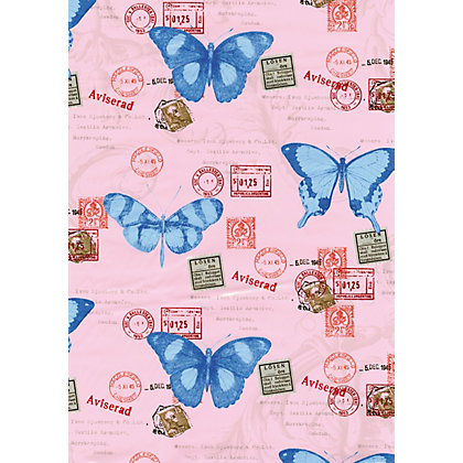 Image for Fablon Sticky Back Plastic - Butterflies from StoreName