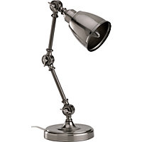 Perham Task Lamp - Antique Silver