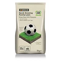 Homebase Family Quick Lawn Seed - 5kg