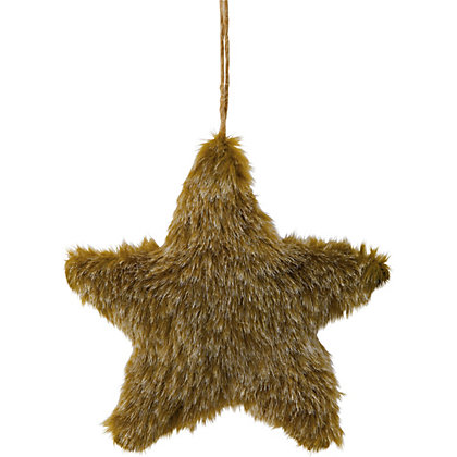 Furry Star Tree Decoration At Homebase Be Inspired And