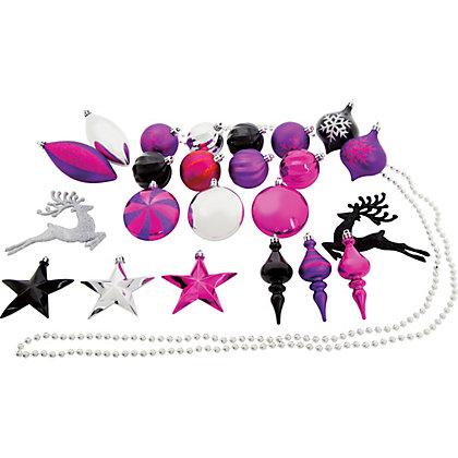 Pack Of 52 Shatterproof Decorations At Homebase Be