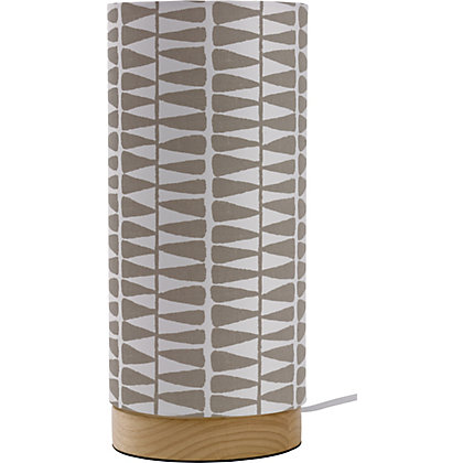 Image for Eden Leaf Print Table Lamp - Natural from StoreName