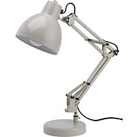 Angled Desk Lamp - Cream