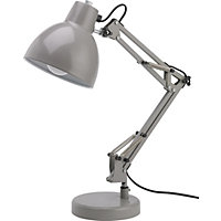 Angled Desk Lamp - Soft Grey