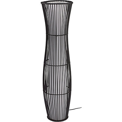 Image for Rattan Sculpture Floor Lamp - Brown from StoreName