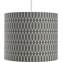 Oval Geometric Print Shade - Grey