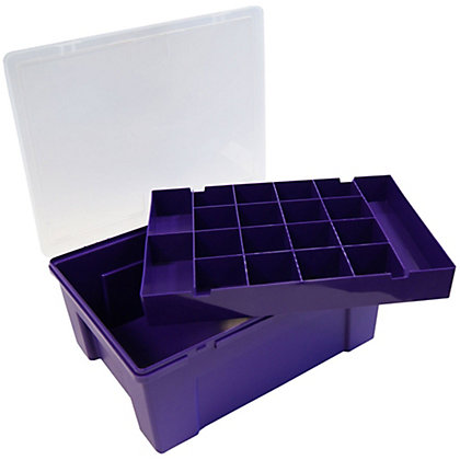 Image for 20 Compartment Plastic Organiser - Purple from StoreName