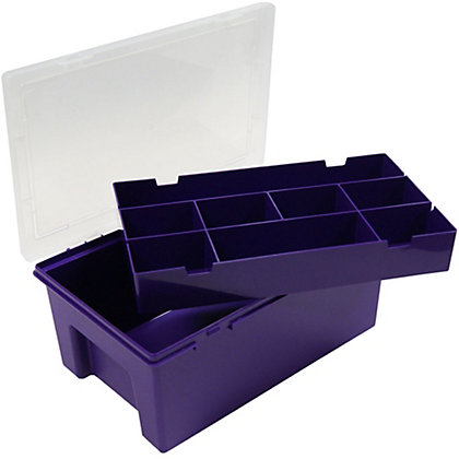 Image for 9 Compartment Plastic Organiser - Purple from StoreName