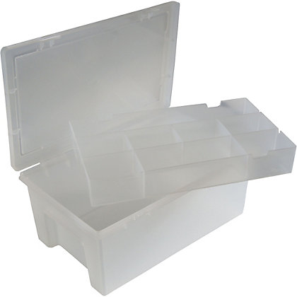 Image for 9 Compartment Plastic Organiser - Clear from StoreName