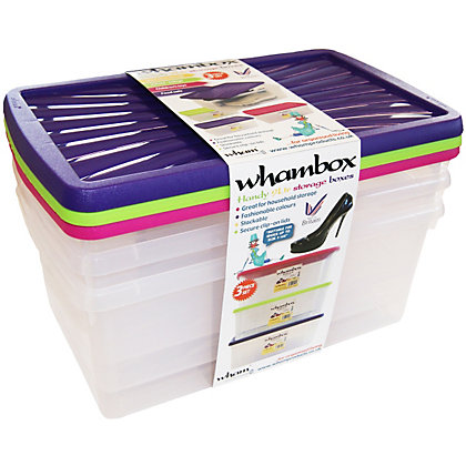 Image for Whambox Set of 3 Handy Storage Boxes - 9L from StoreName