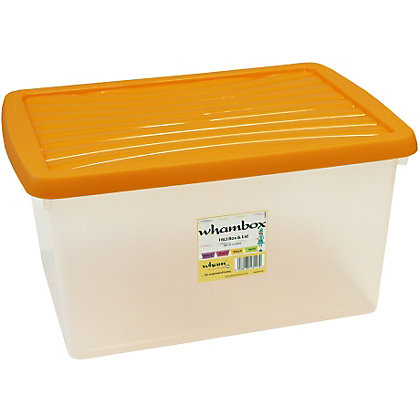 Image for Wham 16L Clear boxand Orange Lid from StoreName